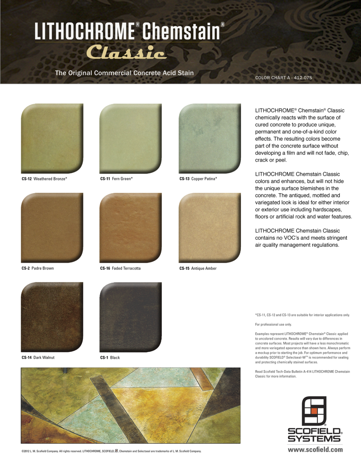 LITHOCHROME® Chemstain® Classic Concrete Stain